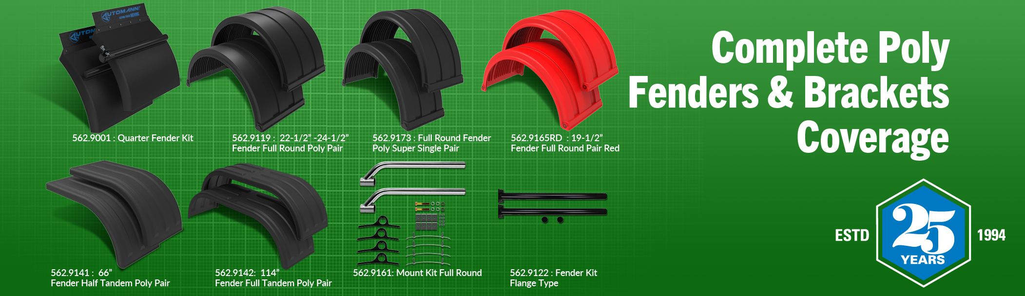 Complete Poly Fenders & Brackets Coverage