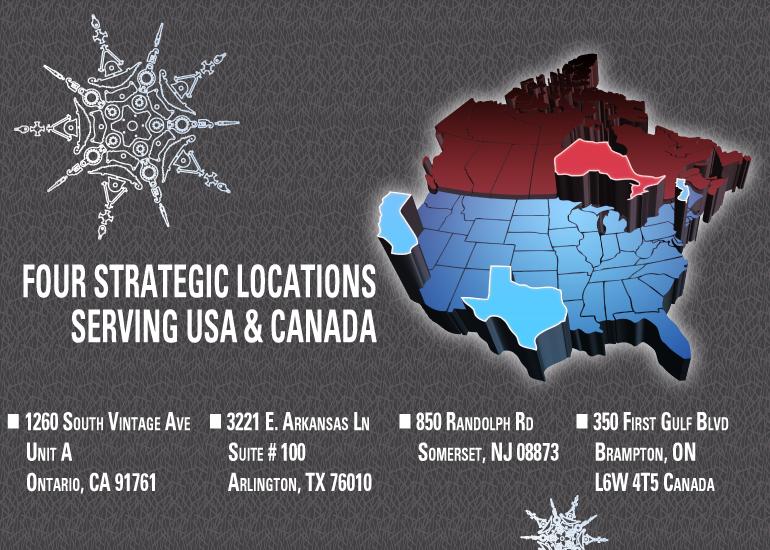 FOUR STRATEGIC LOCATIONS